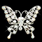 Clear Cutout Butterfly Swarovski Crystal Brooch