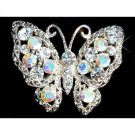 Clear Butterfly Swarovski Crystal Brooch