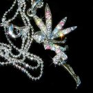 Multi-Color Tinkerbell Angel Swarovski Crystal Necklace