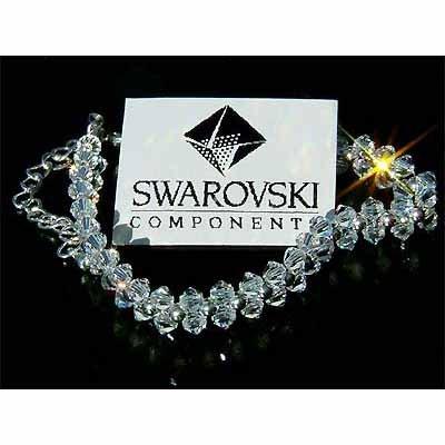 Swarovski Crystal Woven Flower Bridal Bracelet