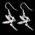 Pink Swarovski Crystal Tinkerbell Tinker Bell Fairy Earrings