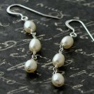 Bride Wedding Freshwater Pearl Sterling Silver Earrings
