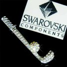 Swarovski Crystal Golf Club & Ball Brooch