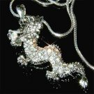 Clear Dragon Swarovski Crystal Necklace