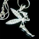 Tinkerbell Pixie Swarovski Clear Crystal Tink Necklace