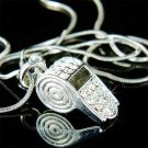 Whistle - Clear Swarovski Crystal Necklace