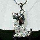 Clear Beagle Dog Swarovski Crystal Necklace
