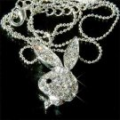 Swarovski Crystal Bunny Rabbit Pendant Necklace