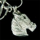 Swarovski Crystal Western Handsome Horse Pendant Necklace