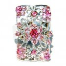 Pink Swarovski Crystal Cutout Flower Rectangle Ring