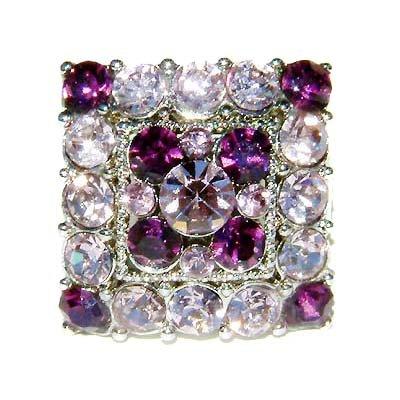 Purple Square Swarovski Crystal Cocktail Ring