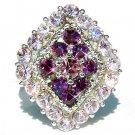 Purple Diamond Swarovski Crystal Ring