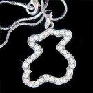Teddy Bear Swarovski Crystal Necklace