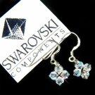 Floating Star Swarovski Crystal Bridal Earrings