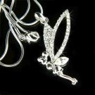 Clear Tinkerbell Fairy Pixie Swarovski Crystal Necklace