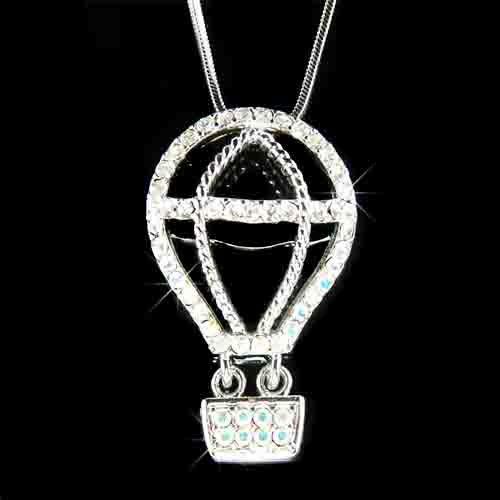Hot Air Balloon Swarovski Crystal Necklace
