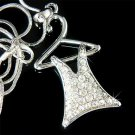 Dress Clothes Hanger Swarovski Crystal Necklace