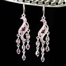 Purple Chandelier Bridal Wedding Party Swarovski Crystal Earring