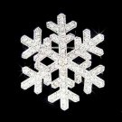 Christmas Snowflake Swarovski Clear Crystal Holiday Pin Brooch