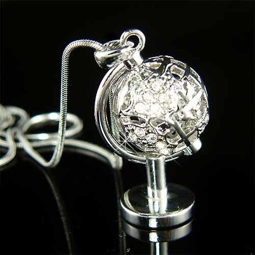 World Globe Peace Eco-Friendly Swarovski Crystal Necklace