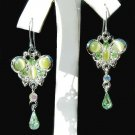 Christmas Holiday Butterfly Swarovski Crystal Pierced Earrings