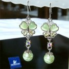 Spring Swarovski Crystal & Pearl Butterfly Bridesmaid Earrings