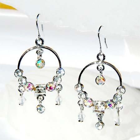 Swarovski Crystal Bridal Circle of Love Earrings