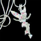 Tinkerbell Fairy Swarovski Rainbow Crystal Pendant Necklace