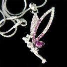 Fairy Tinker Pixie Swarovski Purple Crystal Tinkerbell Necklace