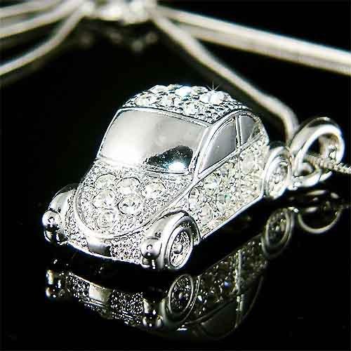 Volkswagen VW Lover MUST HAVE! Beetle Swarovski Crystal Necklace