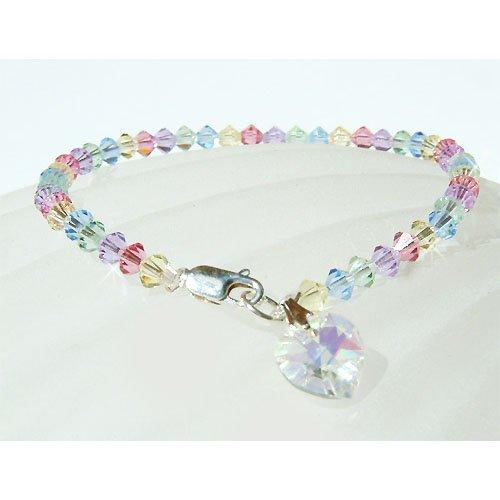 Swarovski Crystal Pastel Sterling Silver Petite Bracelet