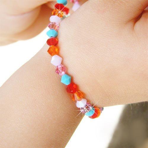 Swarovski Crystal CandyLand Sterling Silver Girl Kids Bracelet