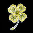 St Patrick's Day Swarovski Crystal Lucky Clover Brooch