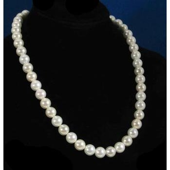 Timeless Classic Big Swarovski Pearl Sterling Silver Necklace