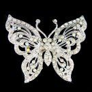 Swarovski Clear Crystal Cutout Butterfly Wedding Bouquet Brooch