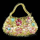 Rainbow Handbag Swarovski Crystal Brooch