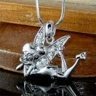 Swarovski Crystal Tinkerbell Tinker Fairy Pixie Pendant Necklace