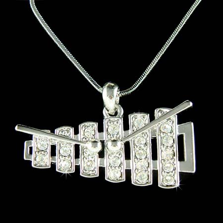 Swarovski Crystal Xylophone Bell Kit Set Musical Charm Necklace