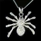 Gothic Swarovski Crystal Toxic Sexy Black Widow Spider Necklace