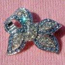 Swarovski Crystal Blue Love Knot Bow Brooch for Wedding Dress