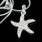 Beach Wedding Swarovski Crystal Bridal Starfish Necklace