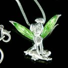 Swarovski Crystal Tinker Tinkerbell Fairy Pixie Pendant Necklace