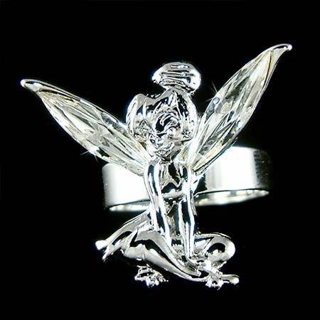 Clear Swarovski Crystal Fairy Magic Tinkerbell Tinker Bell Ring