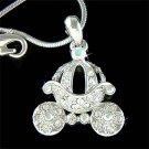 Cinderella Pumpkin Carriage Coach Swarovski Crystal Necklace