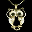 Swarovski Crystal Wise Owl Wisdom Teacher Smart Student Necklace