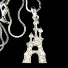 Swarovski Crystal Princess Fairy Tale Castle Pendant Necklace