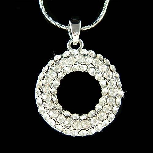 Circle of Love Eternity Hope Swarovski Crystal Bridal Necklace