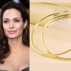 """3 1/8"""" (80mm) Huge Celebrity Gold-Plated Hoop Earrings"""