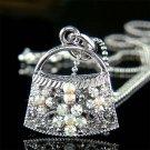Bling Night Out Handbag Purse Swarovski Crystal Pendant Necklace
