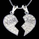 Swarovski Crystal You & Me Best Friends Heart Lover Necklace